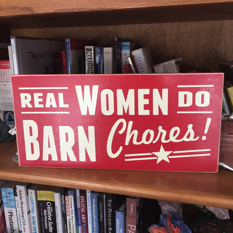Real women do barn chorse