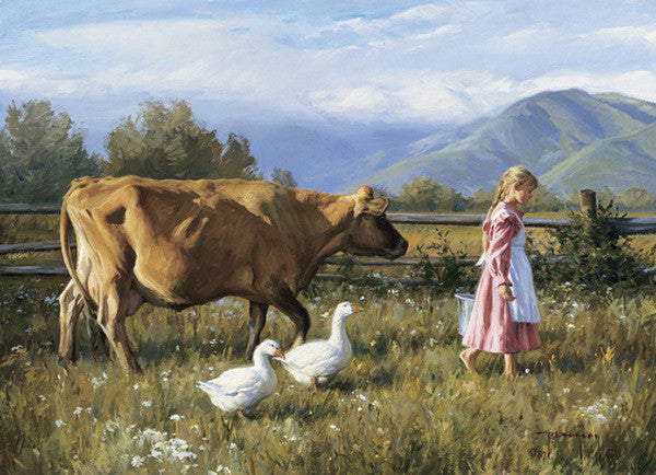 The Morning Walk - Cow Art and More