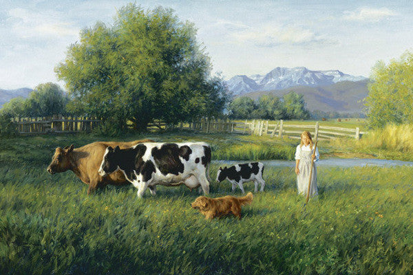 Country Girl - Cow Art and More