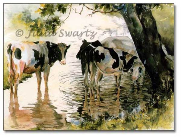 Watering Hole - Cow Art and More