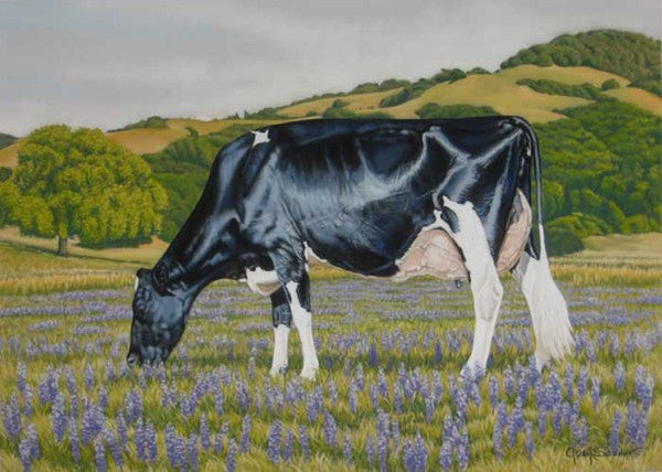 Zandra in Lupine - Cow Art and More