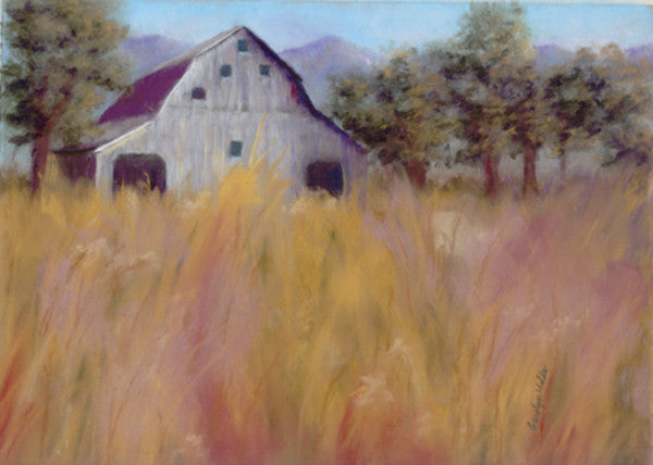 Barn in the Field - Cow Art and More