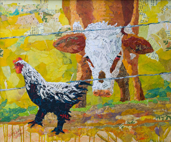Barnyard Friends - Cow Art and More