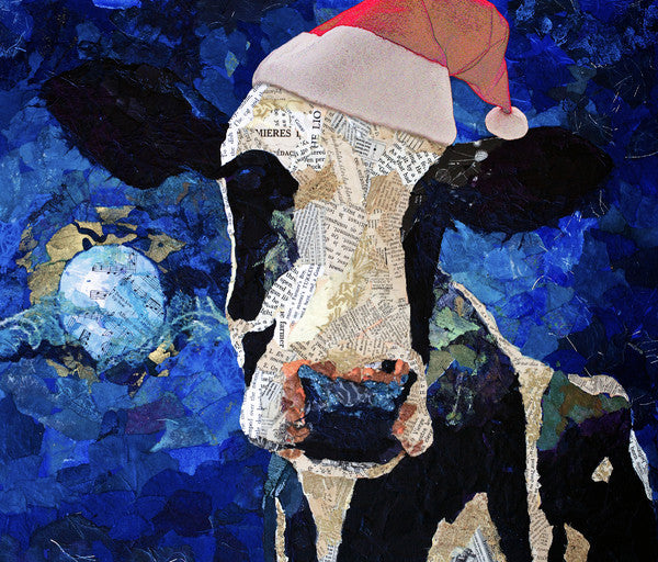 Over the Moon Christmas Cards set - Cow Art and More