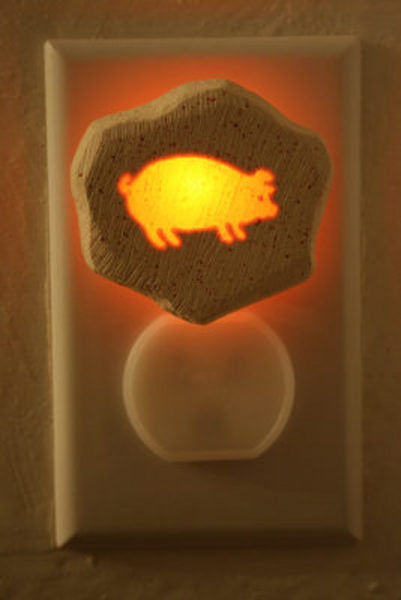 Pig night light - Cow Art and More