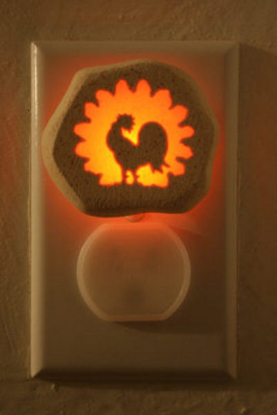 Rooster night light - Cow Art and More