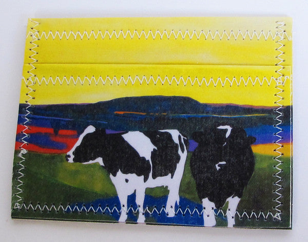 Holstein cow wallet - Cow Art and More