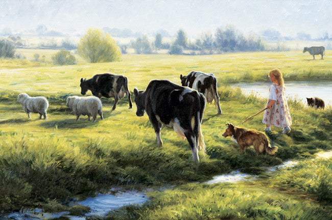 Cow Girl - Cow Art and More