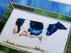 Stained glass hanging piece with cow portrait - Cow Art and More