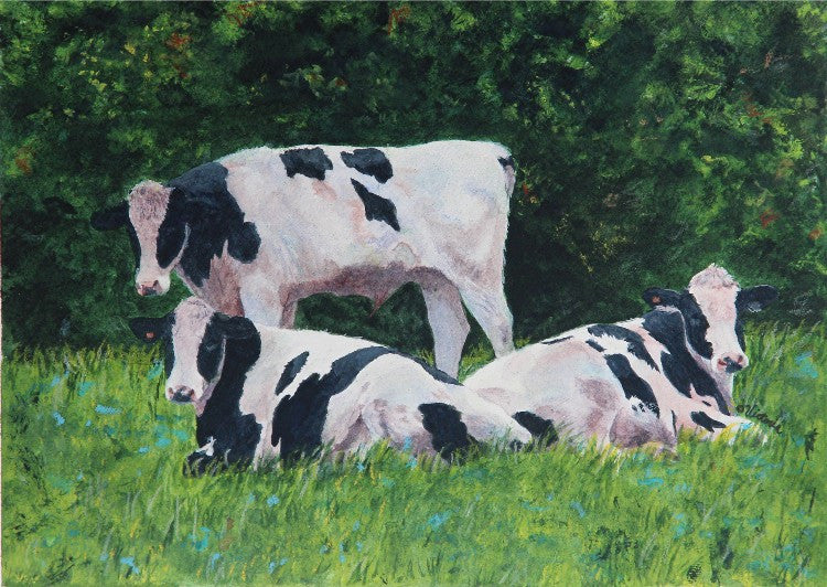 Spring Meadow - Cow Art and More