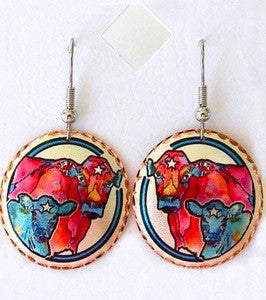 Cow and Calf earrings