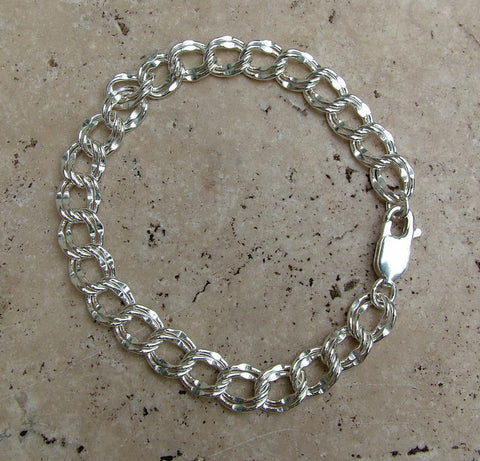 Charm Bracelet, hammered links