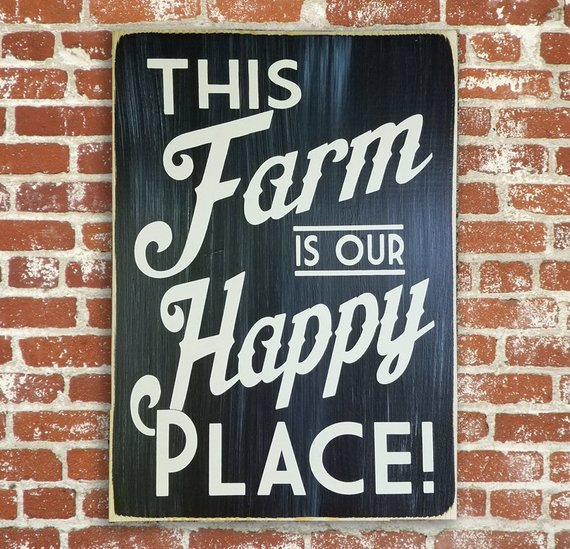 This Farm is our Happy Place - Cow Art and More