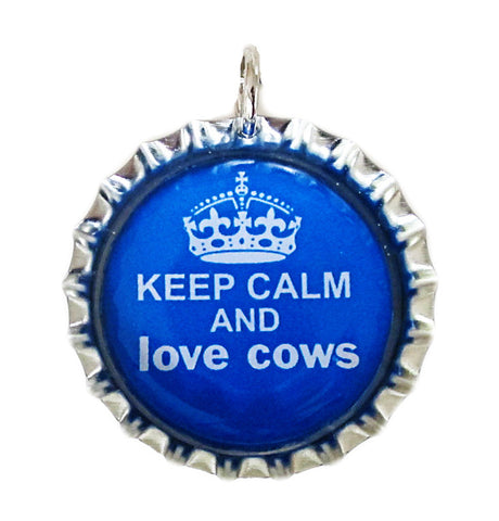 Keep Calm cow pendant