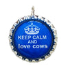 Keep Calm cow pendant - Cow Art and More