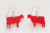 Colored cow earrings - Cow Art and More