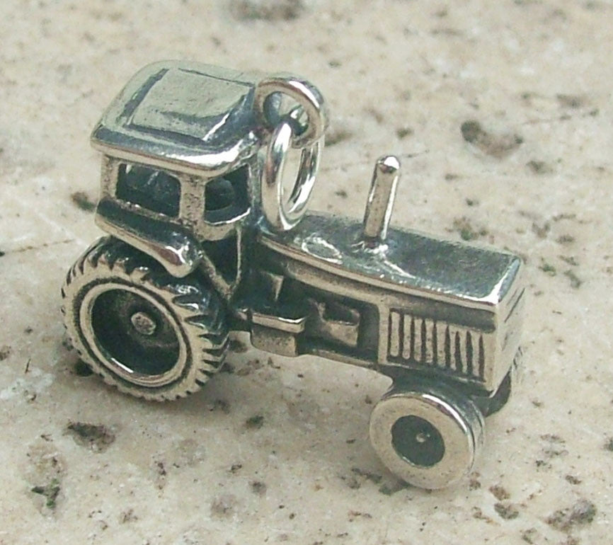 Tractor charm - Cow Art and More