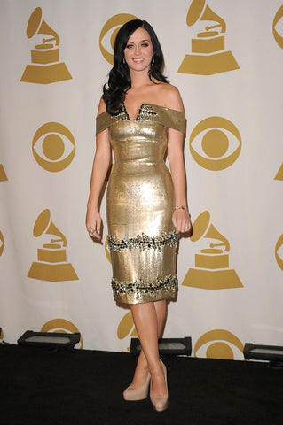 Gold Dress Katy Perry