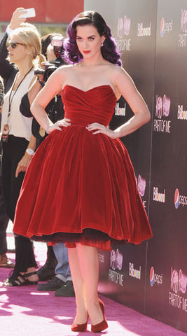 Red Dress Katy Perry
