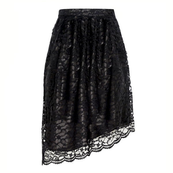 Clare Asymmetric Lace Skirt