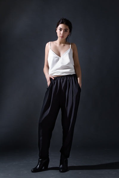 Mira Silk Draped Trousers