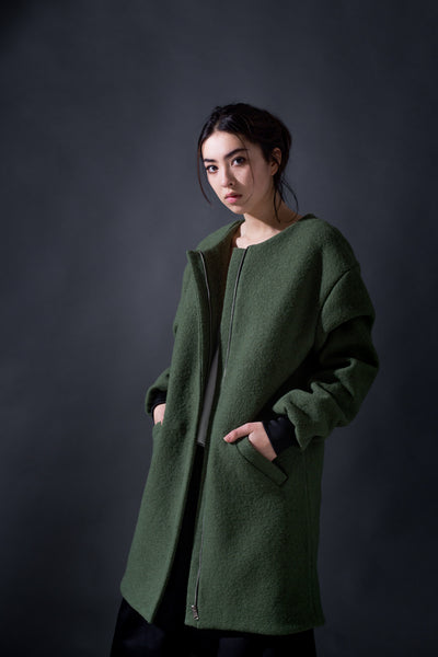 Val Boiled Wool Coat
