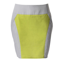 contrast panel mini skirt