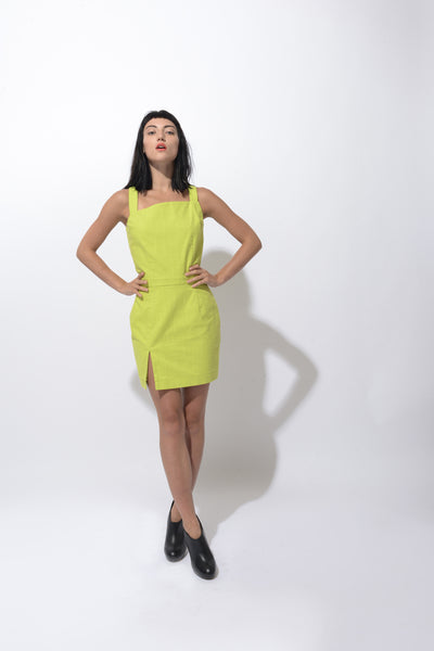 Break Asymmetric Mini Dress