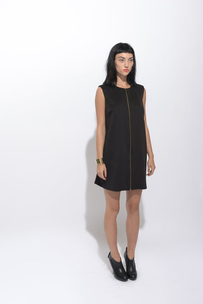 Business As Usual Front Zip Dress
