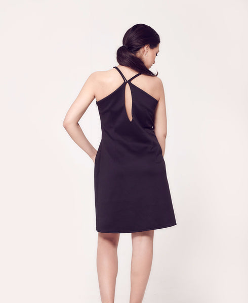 Rosh Black Relaxed Strap Dress