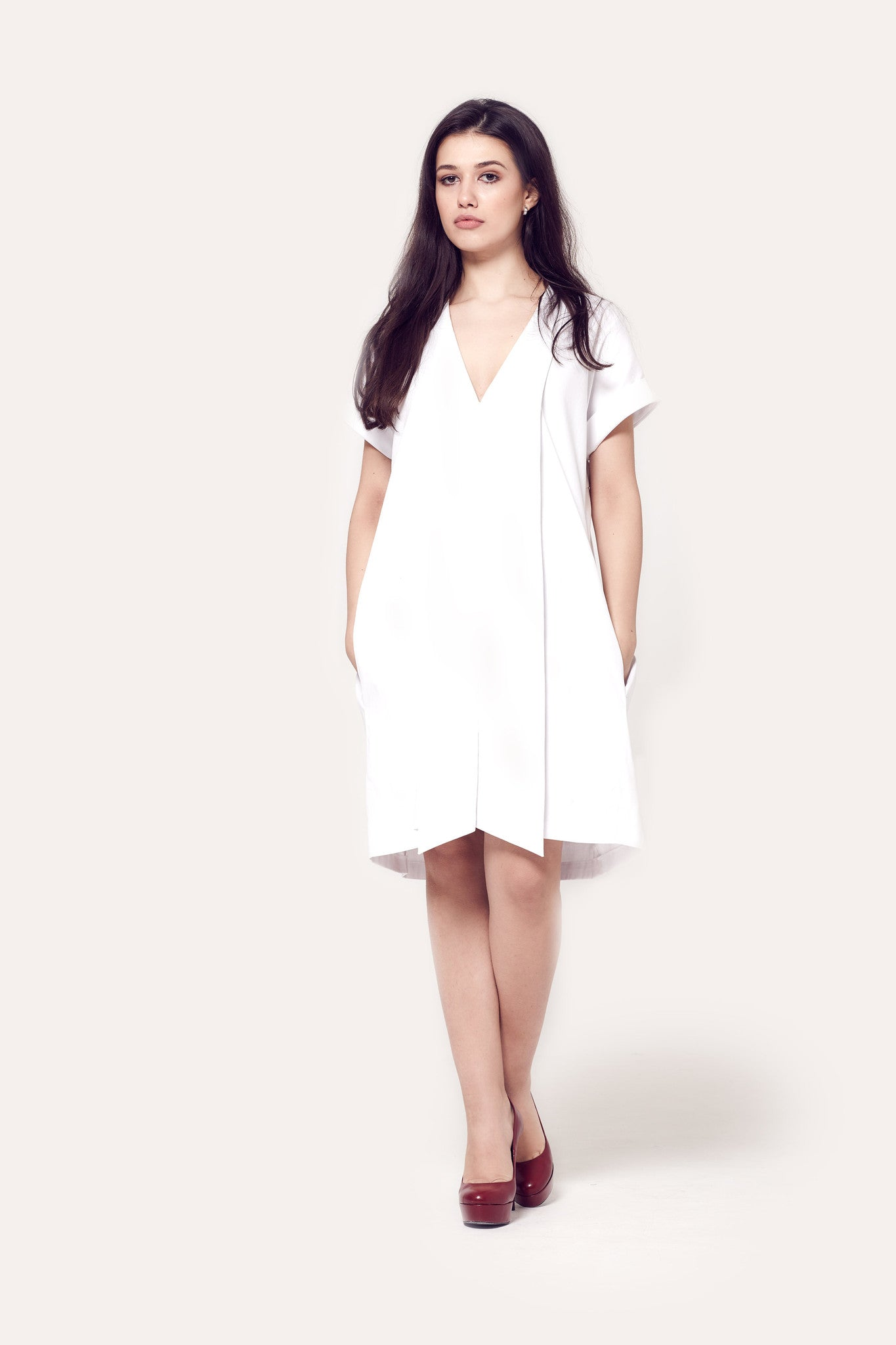 Lopa White Shirt Dress