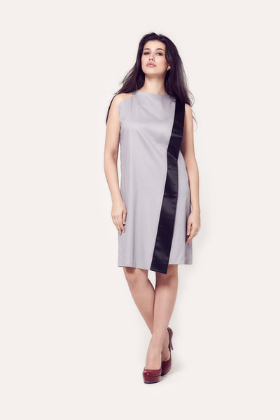 Emma Grey Asymmetric Shift Dress