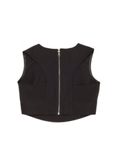 Dimpey Black Cut-Out Top