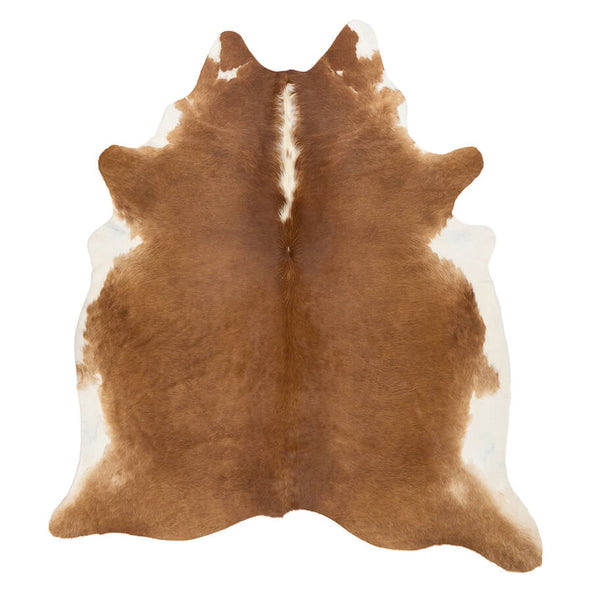 Cowhide Rug - Brown and White (Small)