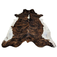 Cowhide Rug White Belly White Spine Large