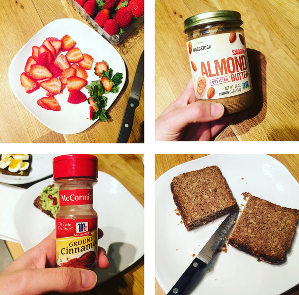 Strawberry Almond Butter Toast
