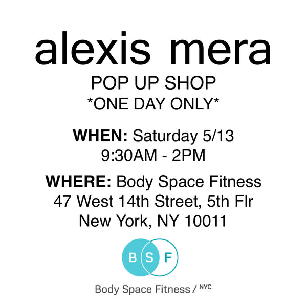 Alexis Mera Pop Up at Body Space Fitness