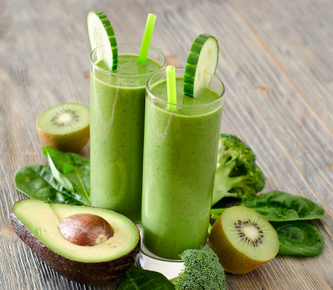 Green juices and avocados