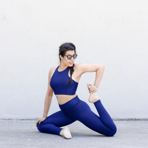 Alexis Mera Navy Shine Activewear