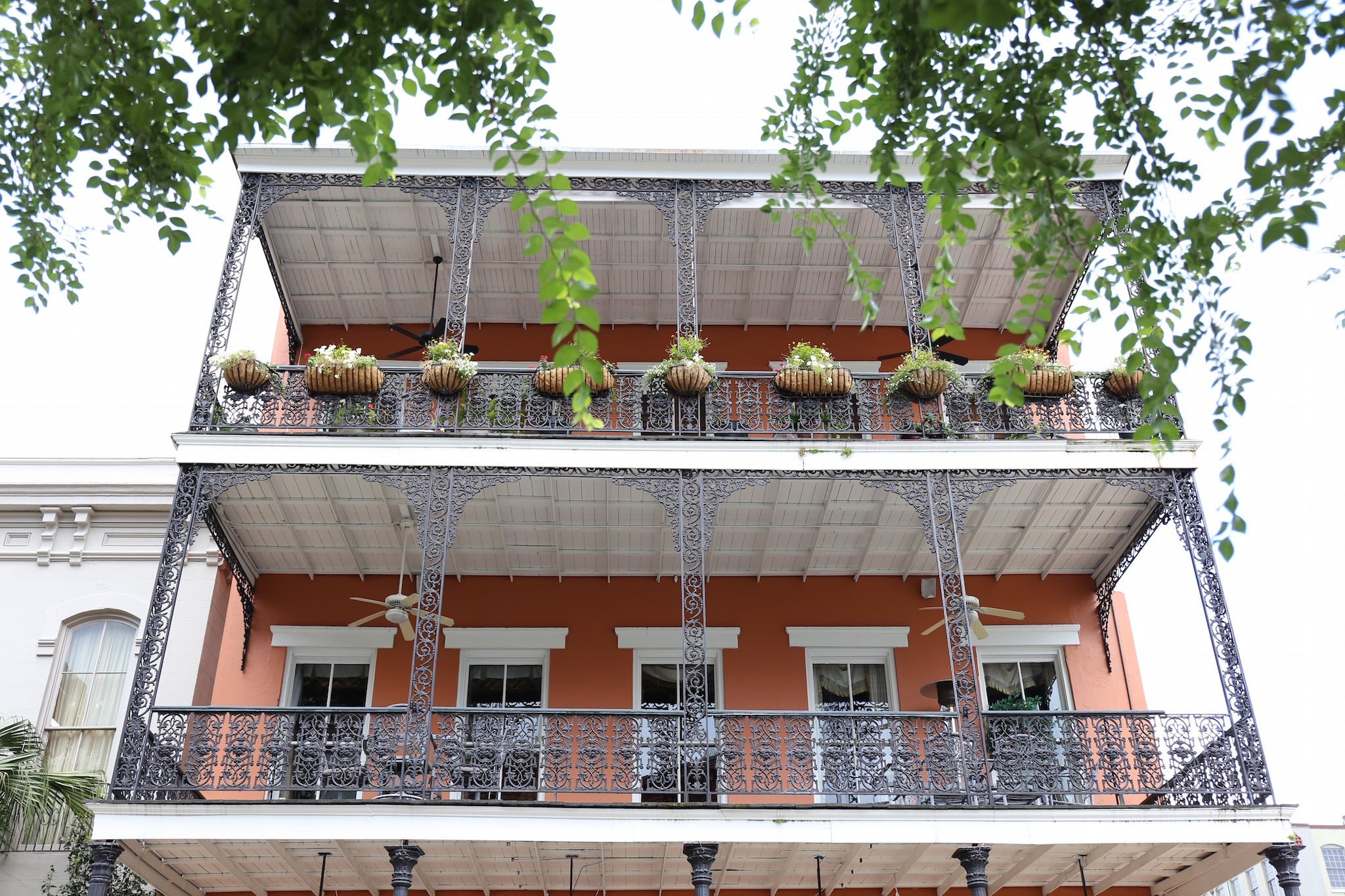 New Orleans iron porches