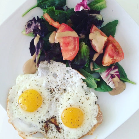 Eggs, Toast, and Greens - Sunday Brunch