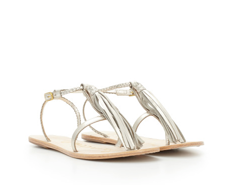 Sam Edelman Erica Leather Fringe Sandal