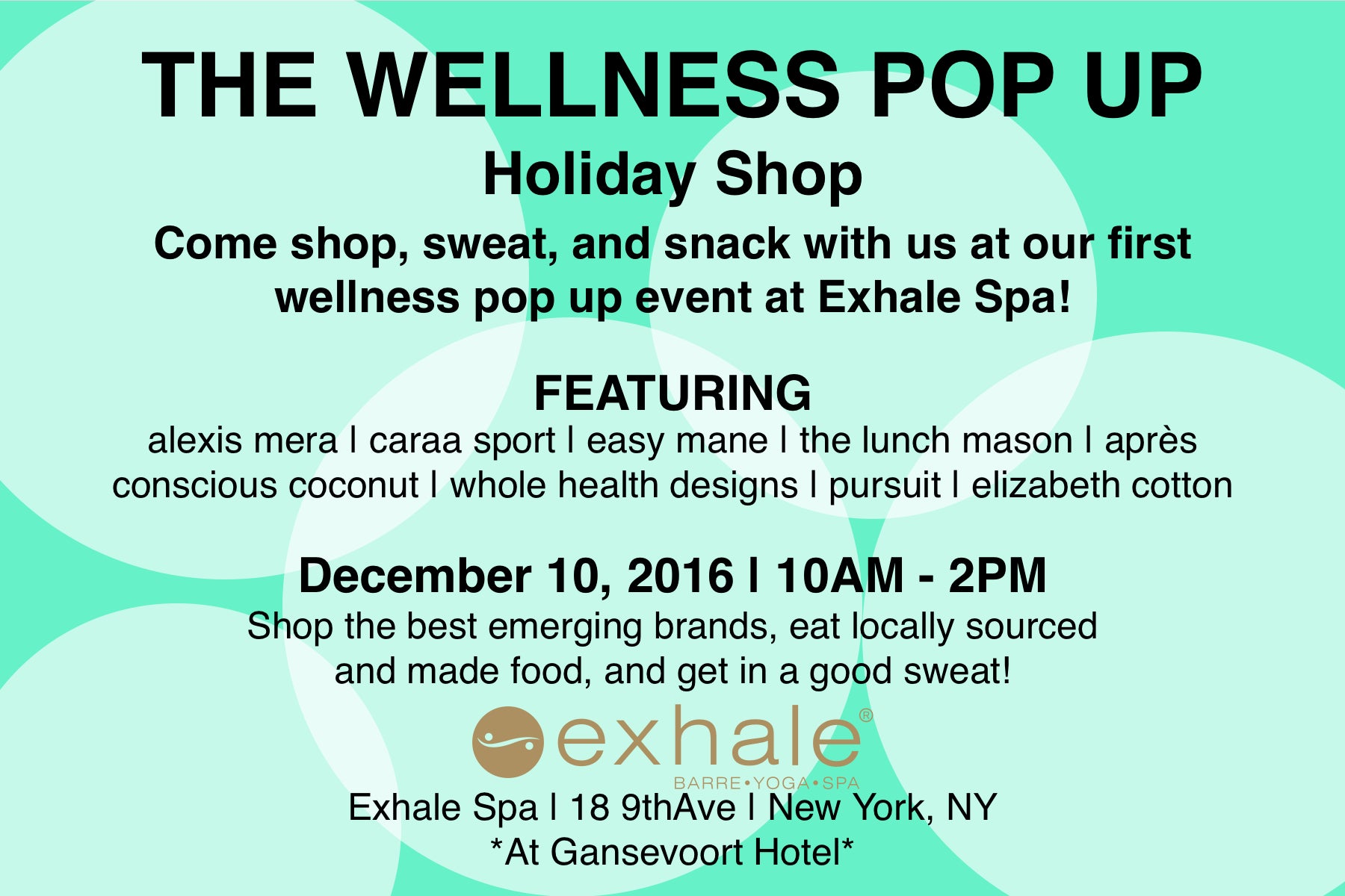 The Wellness Pop Up