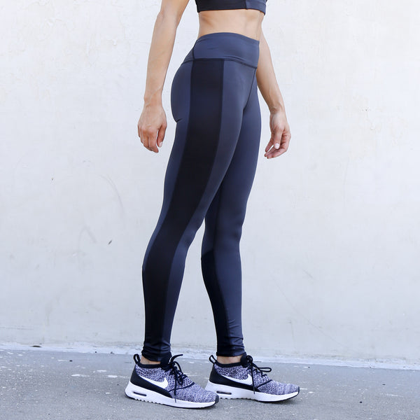 Essential High Rise Legging in Anthracite & Black