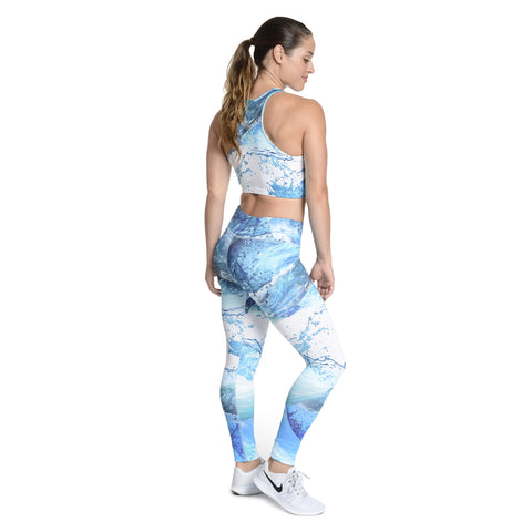 Wave Runner Crop Bra and Leggings