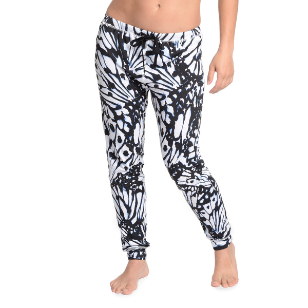Stencil Butterfly Jogger Pants