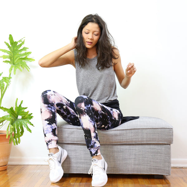 Cortelyou Jogger Pant in Cosmic Night Print