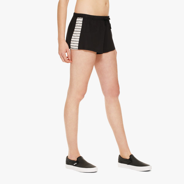 Women's Black/Stripe Boxer Short
