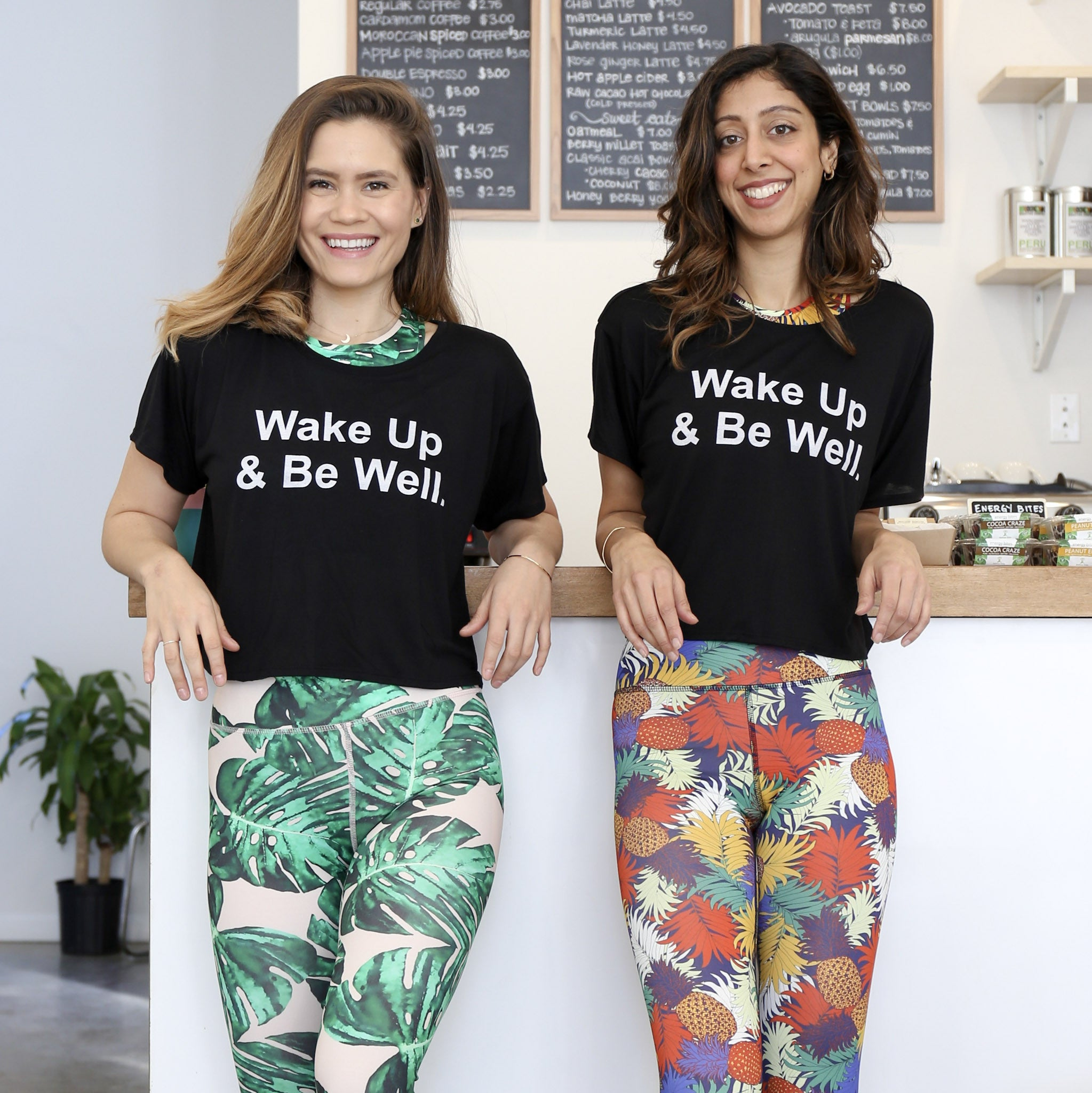 Wake Up & Be Well Crop Tee
