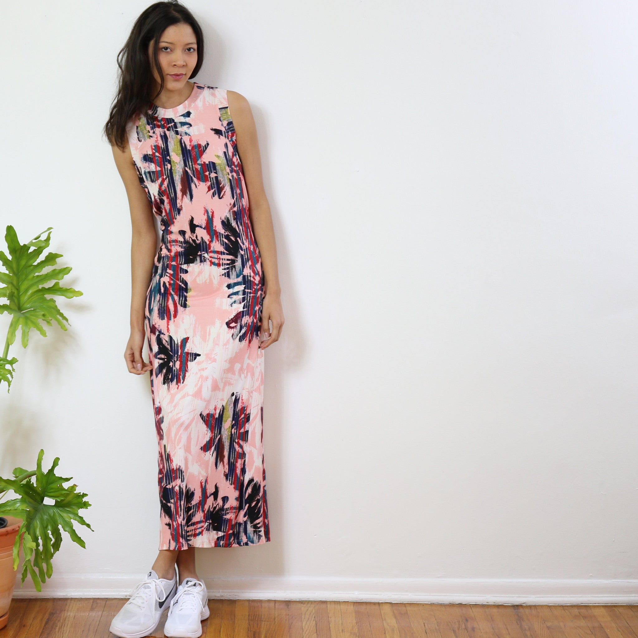 Albermarle Maxi Dress in Sport Your Coral Print